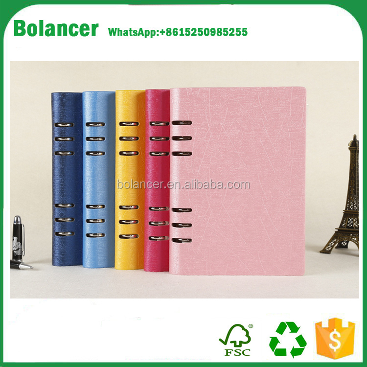 High quality OEM production customized pu cover journals