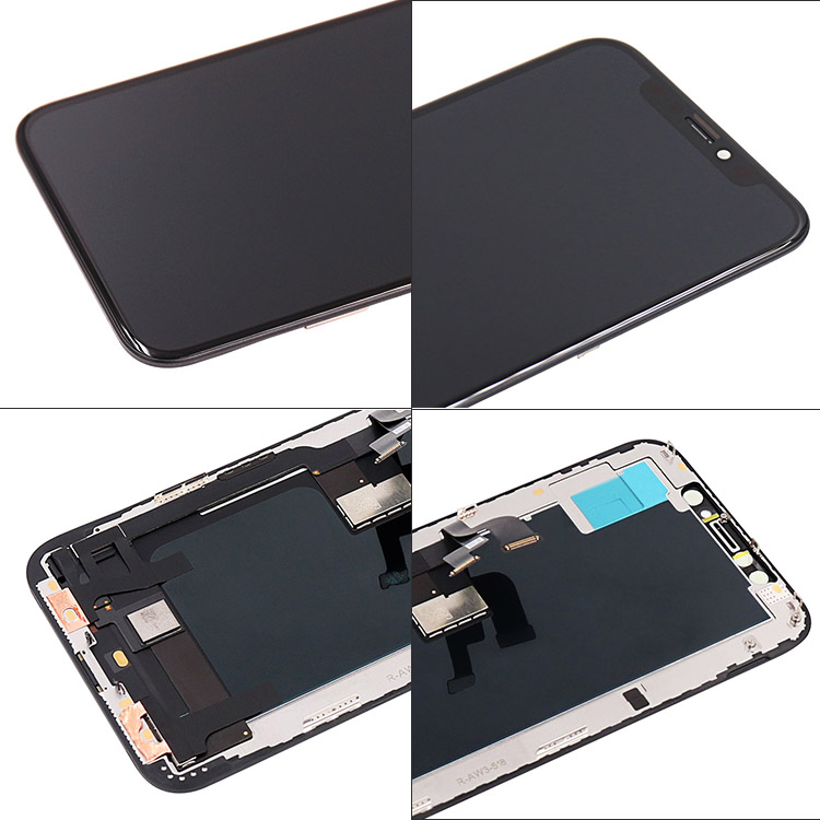 100% Best OLED display for iphone xs max x amoled screen assembly+frame+tools black