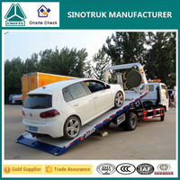 Dongfeng 4 ton mini recovery truck vehicle, vehicle recovery tracks
