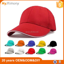 Promotion 100% Cotton Blank 6 Panel Baseball Cap And Hat PayPal Accepted