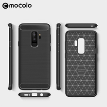 High quality pc+tpu material carbon fiber armor cover for samsung galaxy s9 protective case