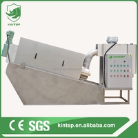 Stainless Steel Screw Filter Press For Sewage Water Treatment Plant