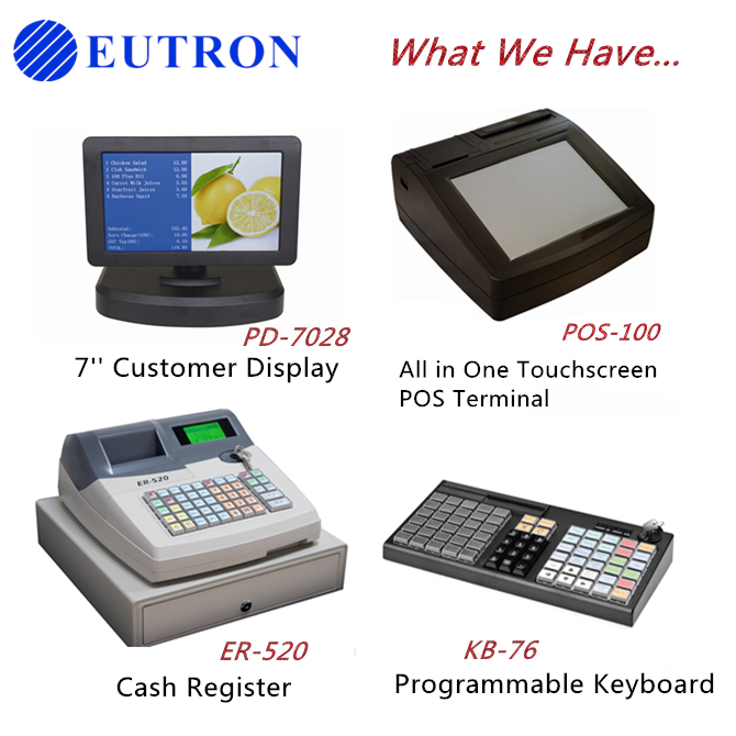 new product POS system LCD customer Display for cash register