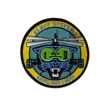 High quality china custom helicopter embroidery patches