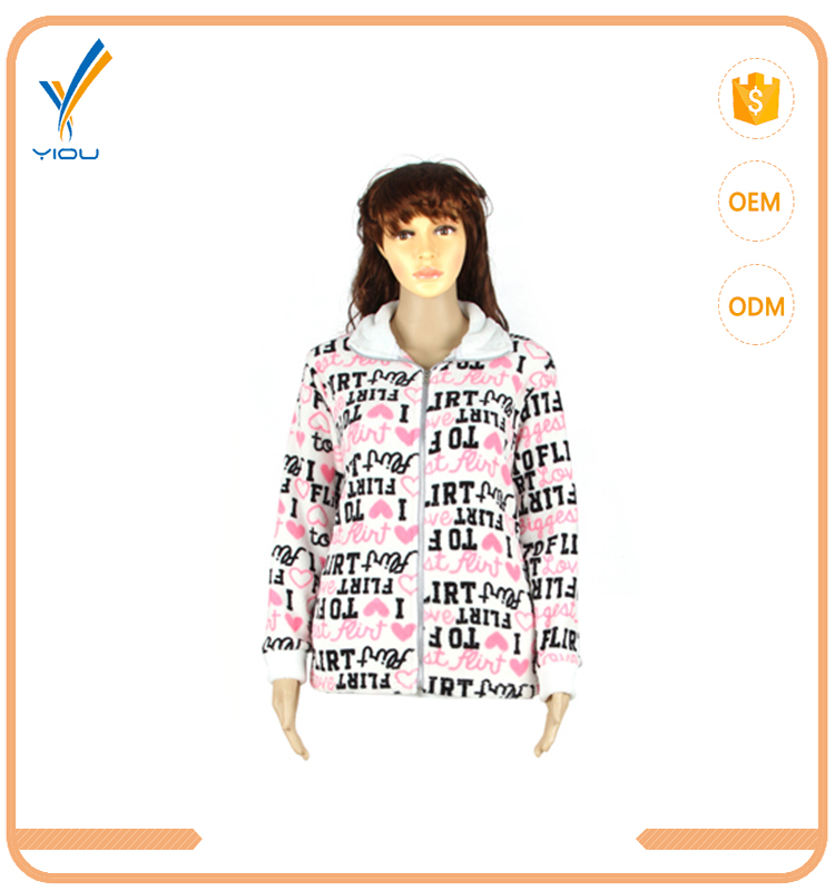 New Style Factory Wholesale Mature Women Sleepwear Zipper Nightgown