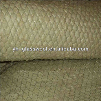 Fireproof insulation rock wool matts wire mesh stitched for Fireproof rockwool