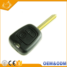 Universal Cheap 2 buttons custom logo remote control car key smart for Citroen