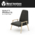 Polyester fabric Solid ash wood frame Lounge Chair FH-LAC021