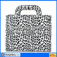 Stylish Leopard Portable PU Leather Bag Case Cover Hand Bag Case Protector for iPad 2 iPad 3