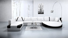 Modern design house furniture real leather sofa corner