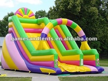 colour inflatable rainbow slide for sales A4019
