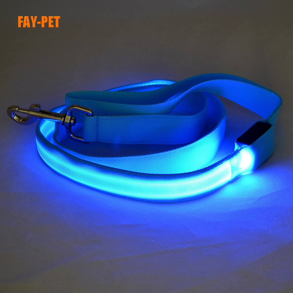 Super led dog leash dog love much more safey at night flashing dog leash