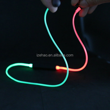 New design unique earphone earbuds stereo sound V4.1 led color changing earphones night sport earphone