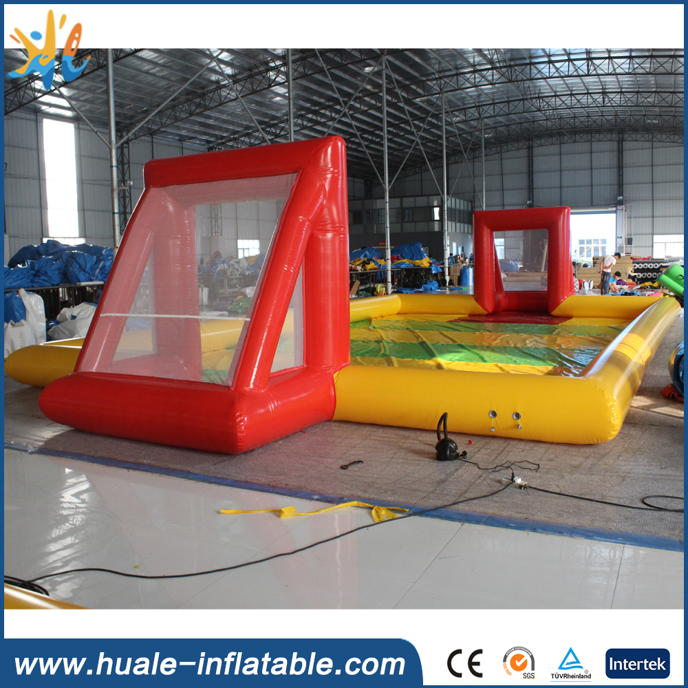 PVC Inflatable Football Game / Inflatable Soccer field / inflatable soap soccer field