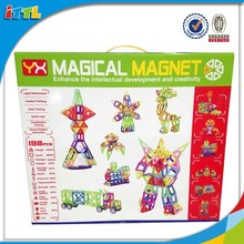 Educational magic Toys Plastic Magnetic Building Blocks 198pcs