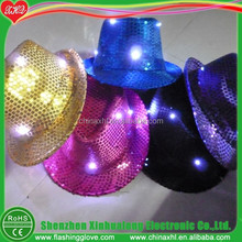 LED hat flashing jazz hat glow hat for party