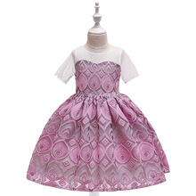 Fancy dance costumes for girls wholesale little <strong>girl's</strong> princess gown colorful light <strong>dress</strong>