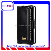 Popular Folio Black Wax Leather Case for Samsung Galaxy S6