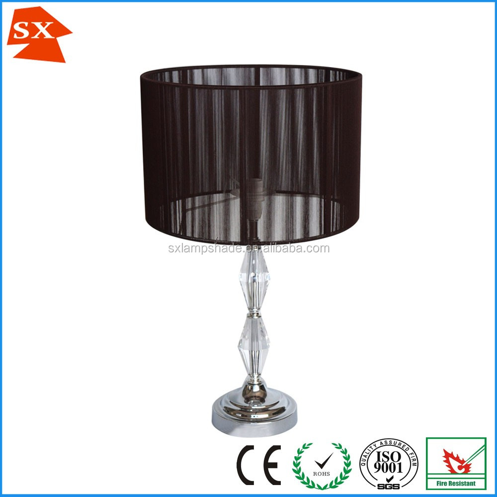 Thread wrapped hanging lamps material wire lampshade frames wholesale