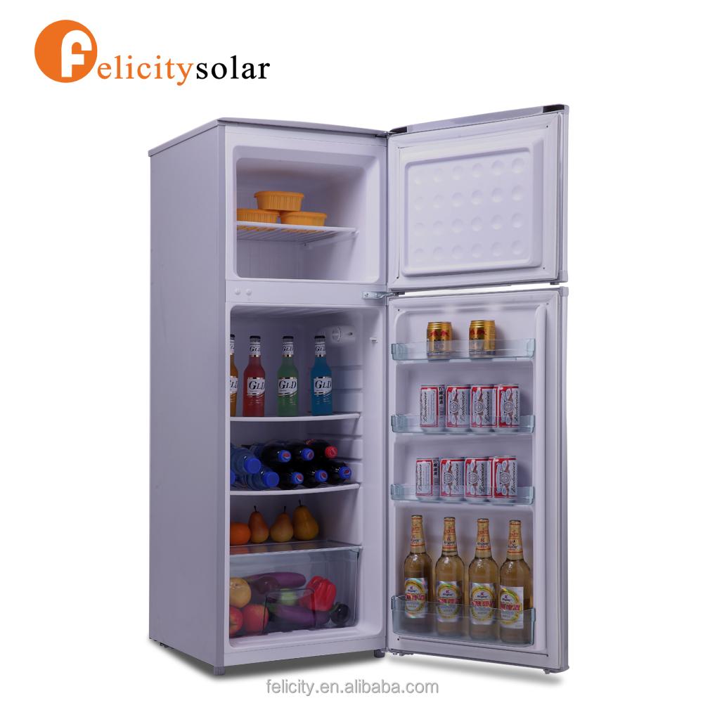 Dc 12 voltios nevera congelador solar nevera de doble puerta refrigeradores identificaci n del - Nevera doble puerta ...