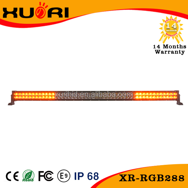 2016 New 50'' Led Strobe Light Bar! Curved 288w Offroad Led Bar,Remote Control Rgb Flashing Bar Light For 4wd,Suv,Car,Je
