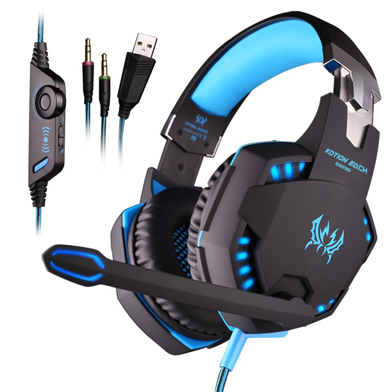 Cool LED Vibration Over the Ear Headset G2000