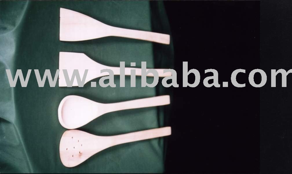 Wooden Kitchen Utensils, Spoon set
