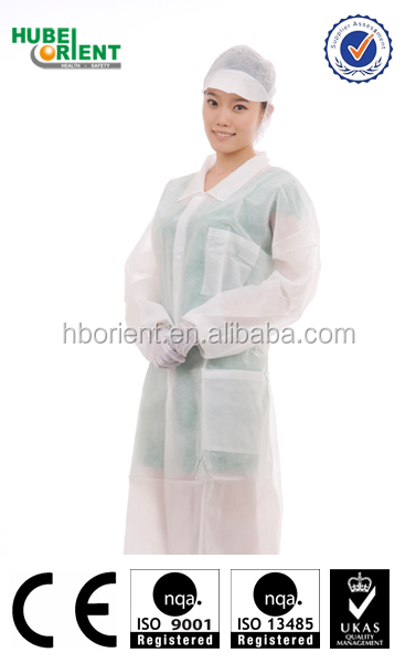 nonwoven disposable smock for working