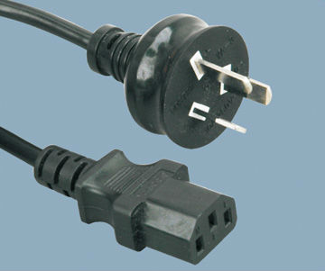 Australia power cord with IEC 320 c13 connector,saa power plug