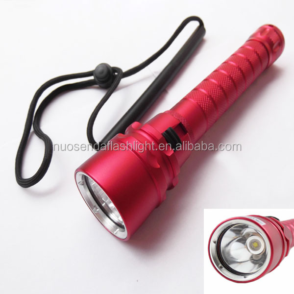 1xCREE XM-L2 <strong>U2</strong> 1200LM Stepless Dimming Red Body LED <strong>Diving</strong> Flashlight (1x18650)