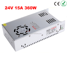 Best quality 360W 24V 15A Switching Power Supply Driver for LED Strip AC 100-240V Input to DC 24V led driver