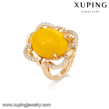 14753 xuping jewelry graceful18k gold plated fashion artificial gemstones finger ring for lady