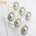2018 Pearl Silver Napkin Ring Serviette Holder Wedding Party For Dinner Table Decor