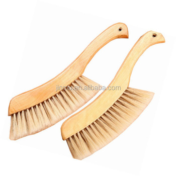 Soft Bristles Wood Bed Cleaning Brush for Bed Sheets Clothes Sofa Carpet