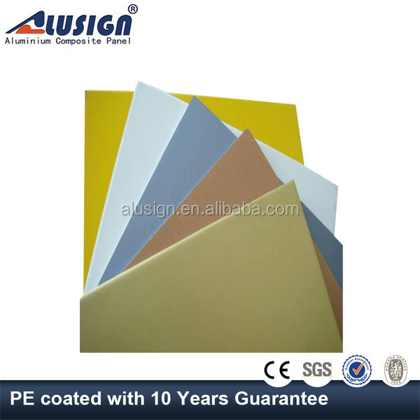 Alusign aluminum composite exterior wall finishing material panel installation hs code