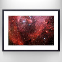 Starry Space World Canvas Wall Art for Wall/ Framed and Stretched Star Galaxy Wall Decor Art/Outer Space Interior Room Decor