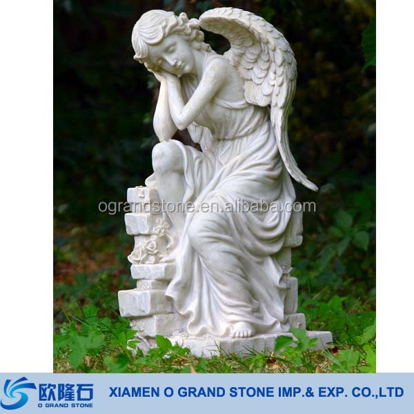 Wholesale Garden Life Size White Marble Granite Angel Statues