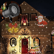 Waterproof Snowflake Xmas Tree Garden Decoration Show IP65 Outdoor Laser Lights Projector 12 Patterns led Christmas laser light