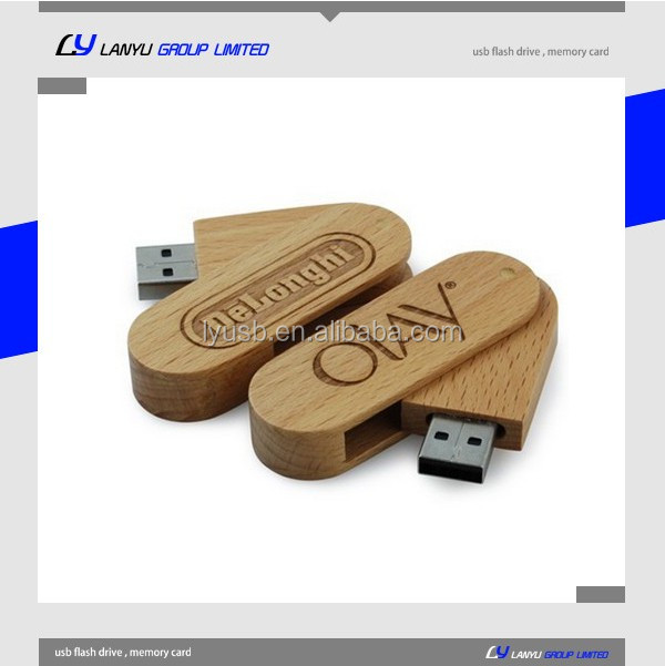Engraving logo fantasy wood USB flash memory drive