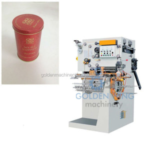 Manual Semi-automatic Round Cigarette Tin Can Packing Case Welding Making Machine Production Line