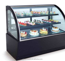 Green&Health display cake refrigerated showcase, sandwich display cooler used cake with chocolate bakery equipment prices