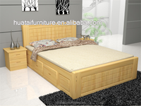 1.5 pine solid wood pine wood log lubricious bed double 1.8 high box storage bed solid wood bedroom furniture