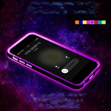 Wholesale LED Calls Flash Light Cute Colorful Bumper Case for iPhone 5 , flash phone case