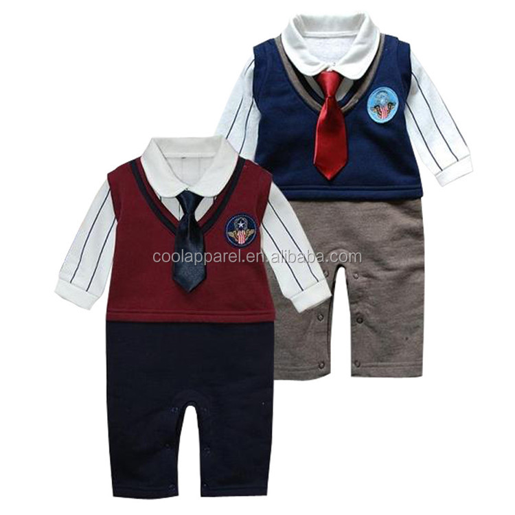 Wholesale 2016 new born baby clothes organic cotton baby rompers