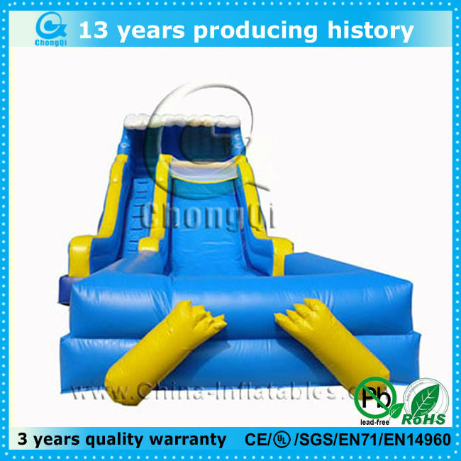 top popular inflatable wave slide