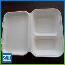 Disposable Bagasse Pulp Food Container Lockable Food Container