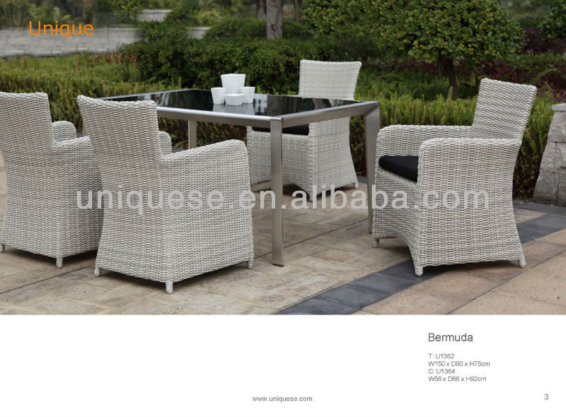 Bermuda glass table Bermuda alum wicker chair tea trolley outdoor furniture