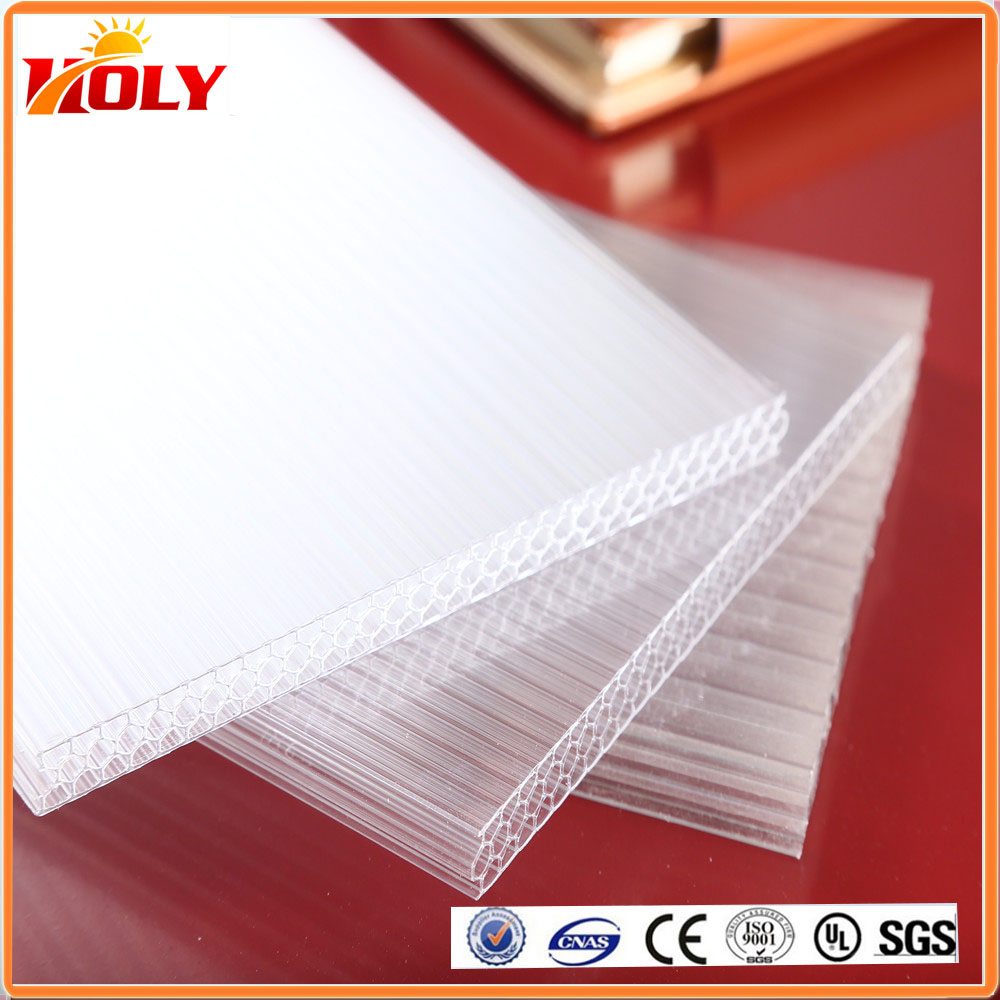 hot sale 10mm 14mm 16mm 18mm polycarbonate honeycomb sheet for greenhouse plastic patio cover