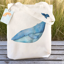 blue whale resuable grocery handbags wholesale cheap shopping bag