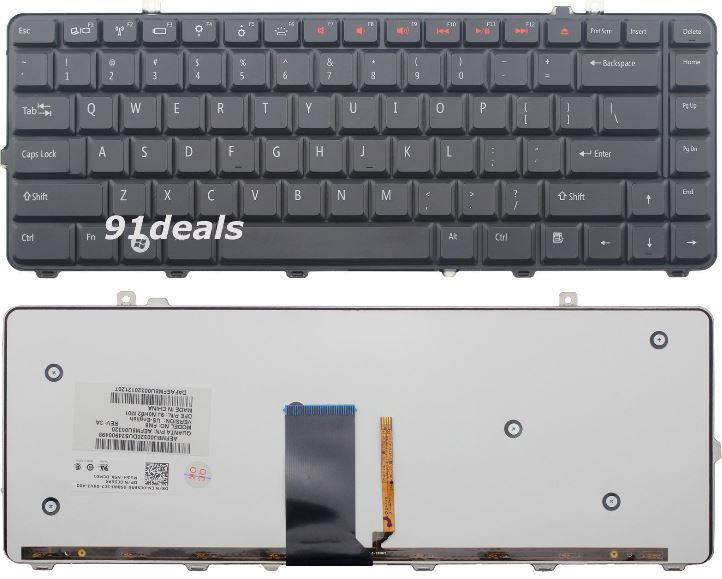 Original New for Dell Studio 1555 1557 1558 US English backlit Keyboard